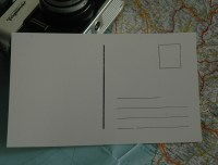 Klassische Postkartenrückseite